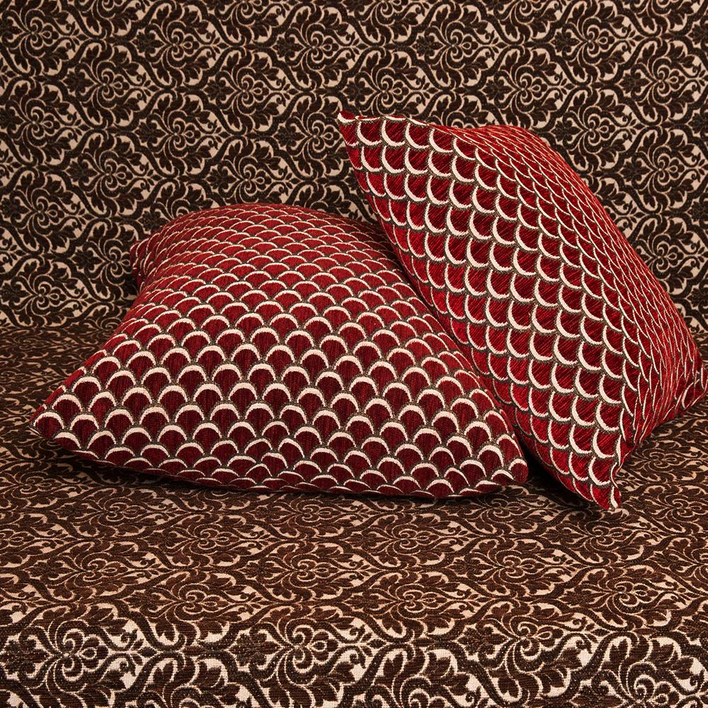 Μαξιλαροθήκη Σενίλ ανάγλυφη 45x45 Νυχάκι Μπορντώ [3535-201]