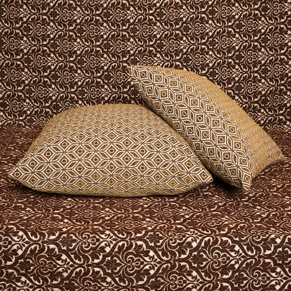 Μαξιλαροθήκη Σενίλ ανάγλυφη 50x50 Ελιά Λαδί [1616-205]