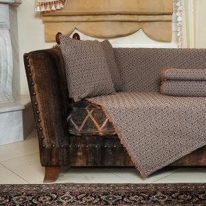 Ριχτάρι Σενίλ ανάγλυφο πολυθρόνα 180×180 Ελιά μπεζ [4601-204]