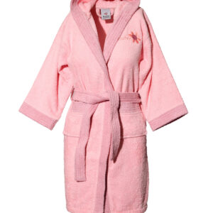 Mπουρνούζι παιδικό με κουκούλα Pink