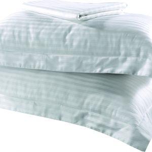 Ξενοδοχειακό Σετ. Ύφασμα Βαμβάκι 100% Λευκό-Dobby 250TC