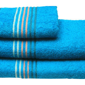 Πετσέτα πενιέ Stripes Turquoise