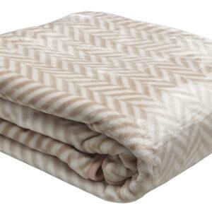 Κουβέρτα βελούδινη ζακάρ Beige