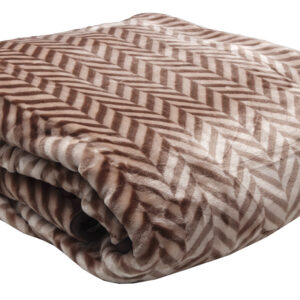 Κουβέρτα βελούδινη ζακάρ Brown