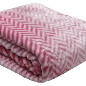Κουβέρτα βελούδινη ζακάρ Fuchsia