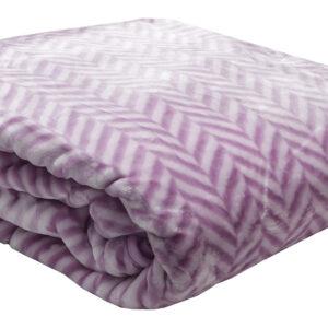 Κουβέρτα βελούδινη ζακάρ Lilac