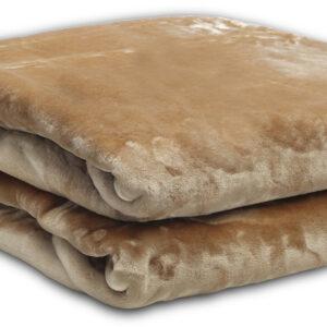 Κουβέρτα βελούδινη Iris Brown