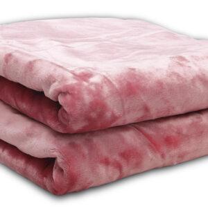 Κουβέρτα βελούδινη Iris Coral