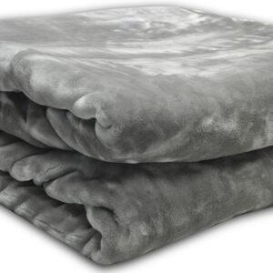 Κουβέρτα βελούδινη Iris Grey