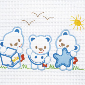 Bear White-Blue