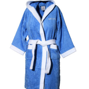 Mπουρνούζι παιδικό με κουκούλα Blue